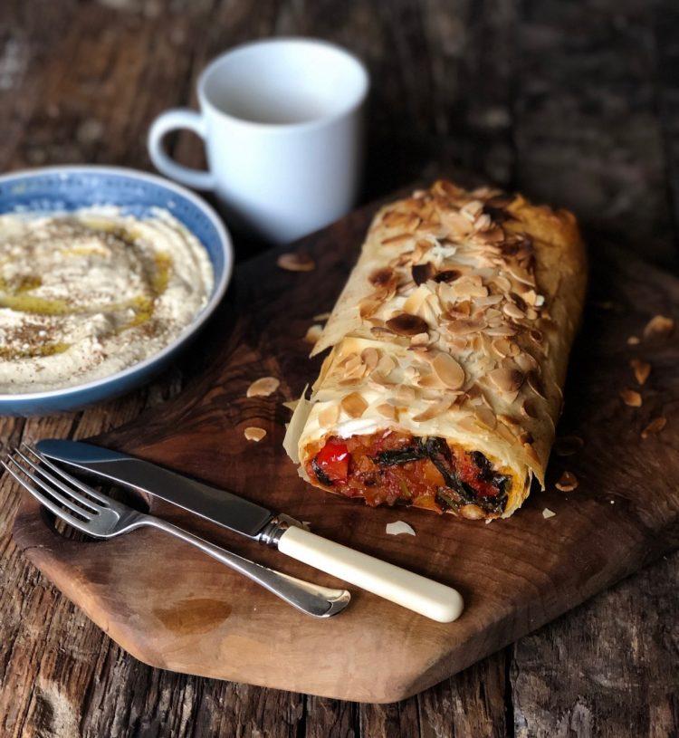 Marokanska pita sa spanaćem i leblebijama