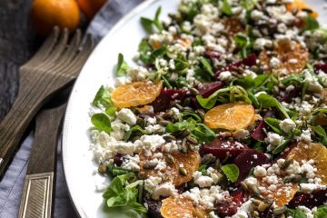 Zimska salata sa cveklom i klementinama