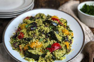 Zeleni kuskus sa pečenim povrćem