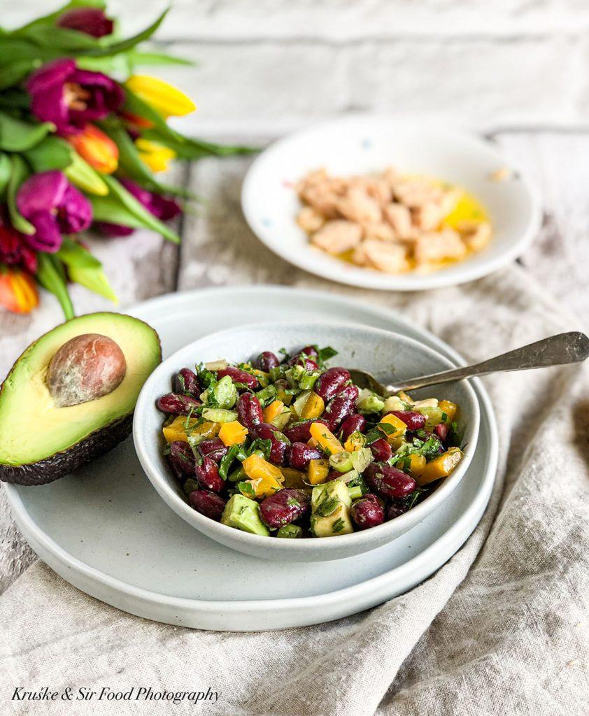 Salata sa crnim pasuljem i avokadom