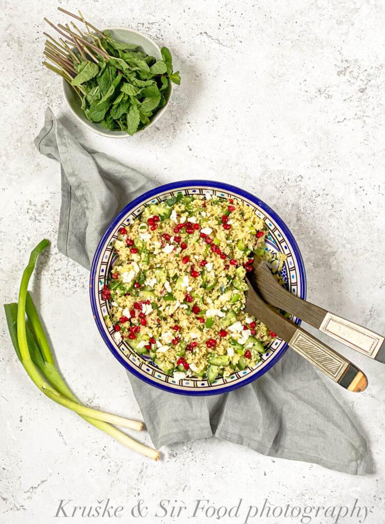Kuskus salata sa nanom, fetom i narom je idealan brzi obrok za svakoga!