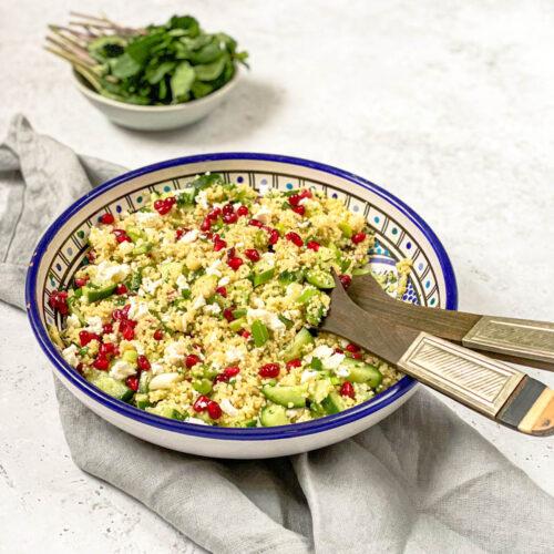 Kuskus salata sa nanom, fetom i narom