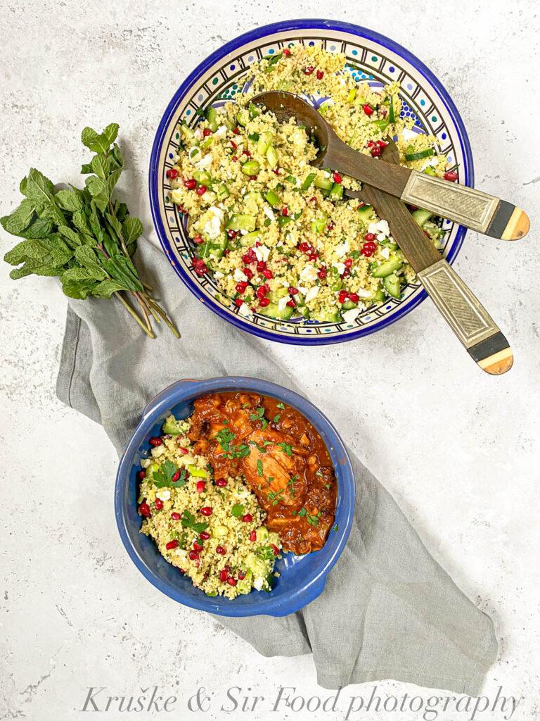 Kuskus salata sa nanom, fetom i narom se odlično slaže uz bilo koje drugo jelo iz Magreba, a i šire!